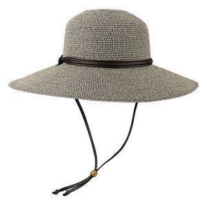Sloggers Braided Wide Brim Hat, Black & Tan Weave